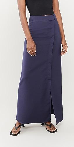 Victoria Victoria Beckham - Split Detail Long Faille Skirt