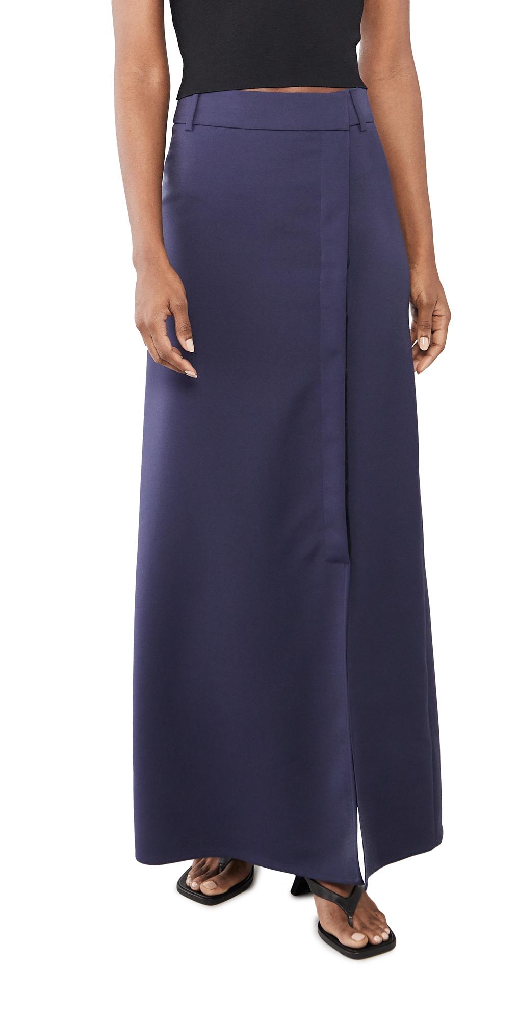 Victoria Victoria Beckham Split Detail Long Faille Skirt