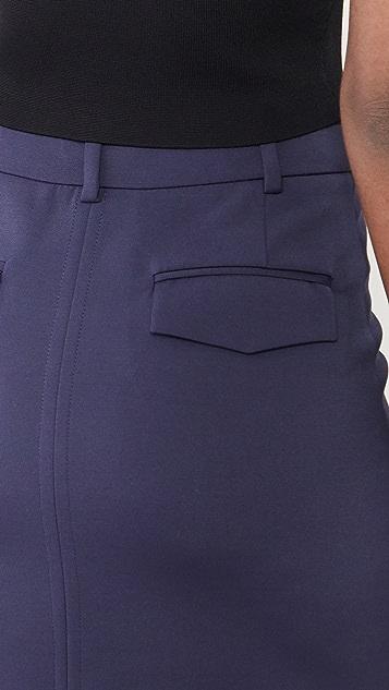 Victoria Victoria Beckham 开衩细节长款罗缎半身裙
