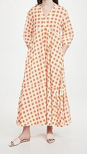 Victoria Victoria Beckham 喇叭袖格子连衣裙