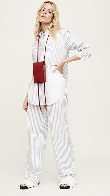 Victoria Victoria Beckham Melange Stripe Patchwork Shirt