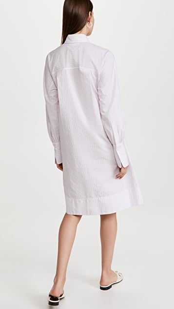 Victoria Victoria Beckham Tie Detail Shirt Dress