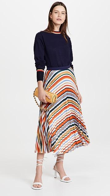Victoria Victoria Beckham Colorblock Detail Sweater