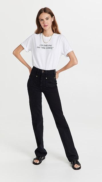 Victoria Victoria Beckham I'm Smiling On The Inside T-Shirt