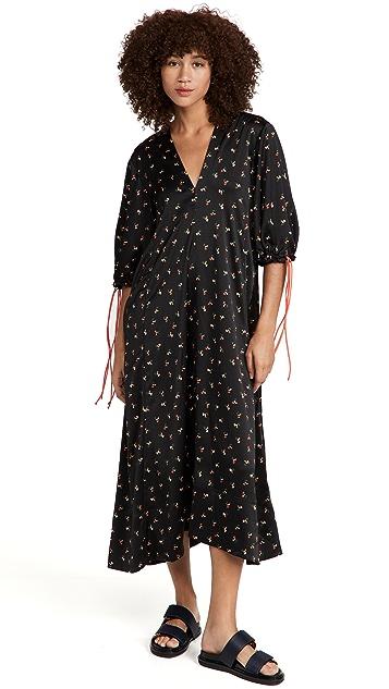 Victoria Victoria Beckham Puff Sleeve Maxi Dress