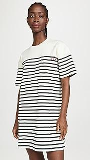 Victoria Victoria Beckham Striped T-Shirt Dress