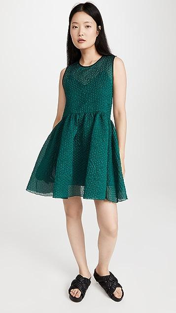 Victoria Victoria Beckham Sleeveless Cloque Mini Dress