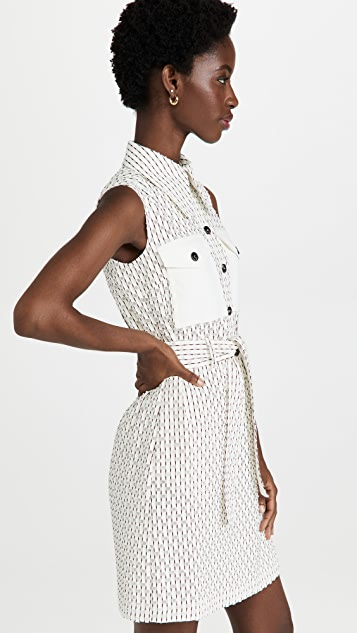 Victoria Victoria Beckham Sleeveless Mini Shirt Dress