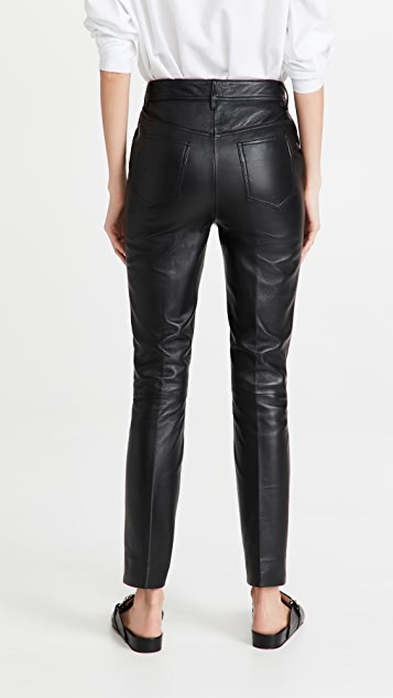 Victoria Victoria Beckham 直筒皮裤