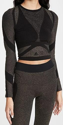 Wolford x adidas - 金属元素长袖 T 恤