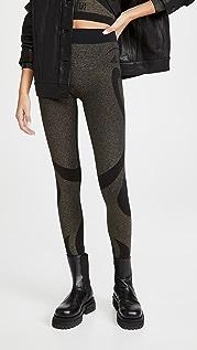 Wolford x adidas 金属元素贴腿裤