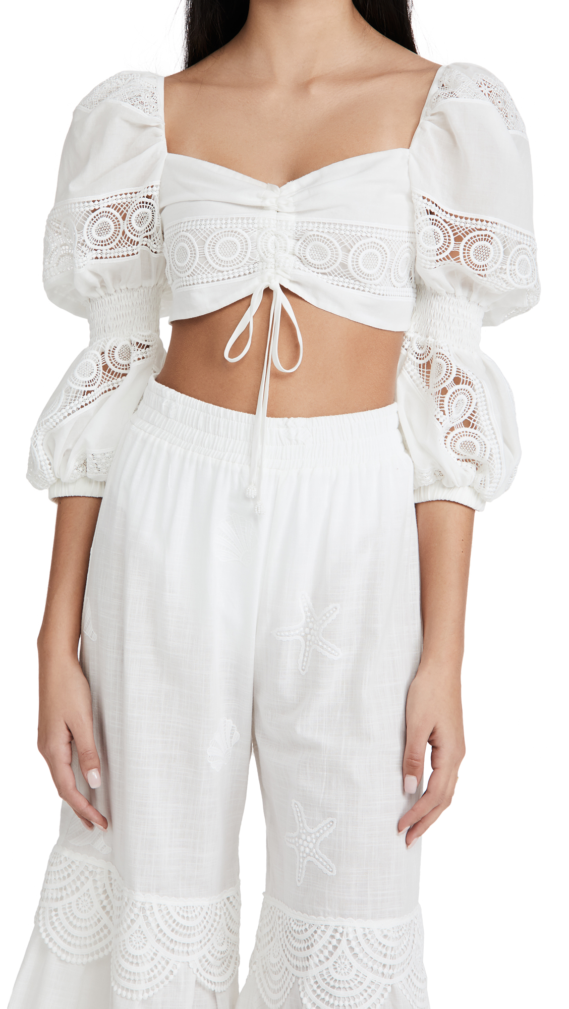 Waimari Sevillana Top White