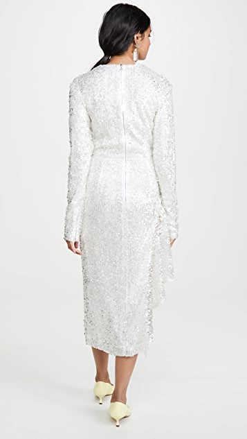 Walk of Shame White Sequins Dress