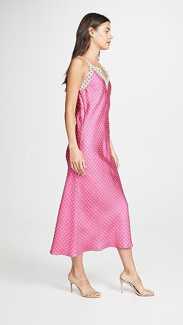Walk of Shame Polka Dot Slip Dress