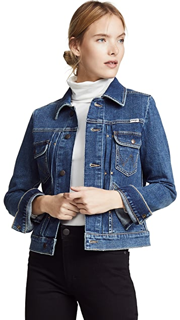Wrangler Pleated Denim Jacket