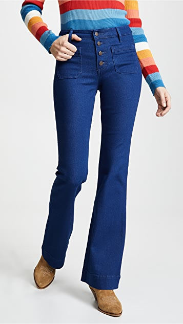 Wrangler High Rise Exaggerated Bootcut Jeans