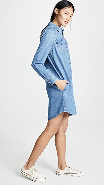 Wrangler 西部风情衬衣式连衣裙