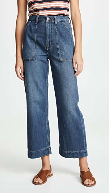 Wrangler Utility Cropped Jeans