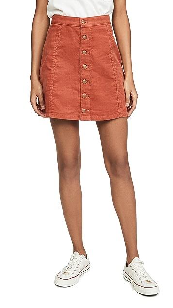 Wrangler Мини-юбка с пуговицами спереди