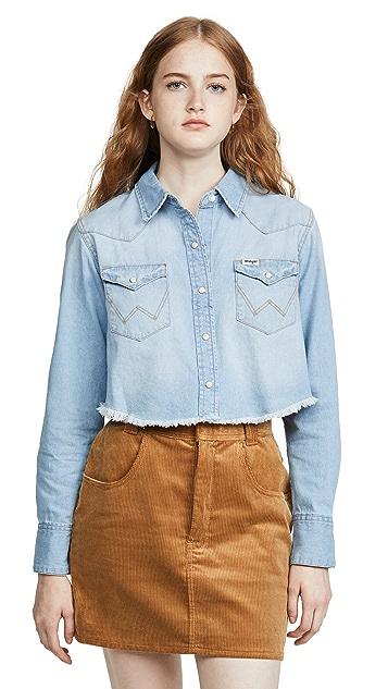 Wrangler Crop Denim Shirt