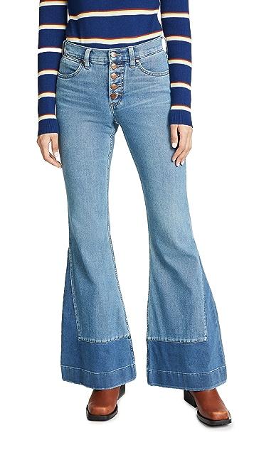 Wrangler High Rise Flare Jeans
