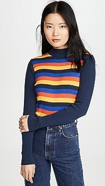 High Neck Slim Sweater