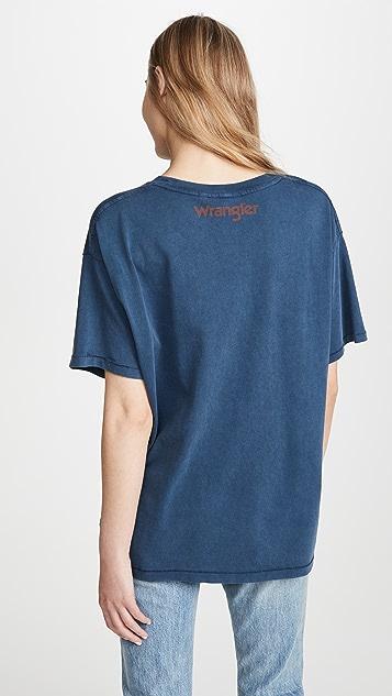 Wrangler 老虎图案 T 恤