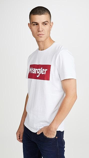 Wrangler Wrangler Short Sleeve Logo Tee
