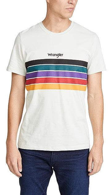 Wrangler Wrangler Short Sleeve Rainbow Tee