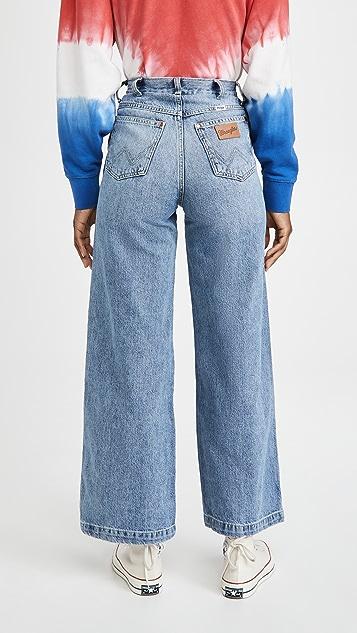 Wrangler Worldwide 阔腿长牛仔裤