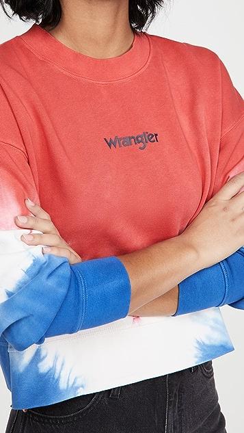 Wrangler 罗纹宽松复古运动衫