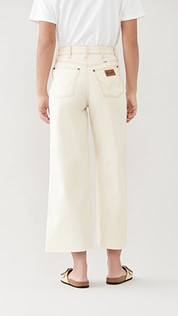 Wrangler High Rise Wide Leg Crop Jeans