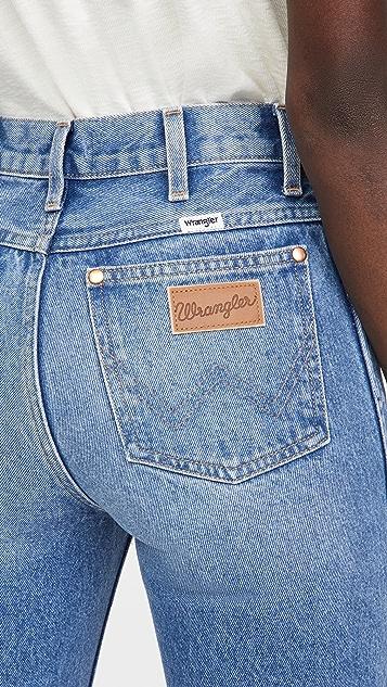 Wrangler 传统高腰直脚牛仔裤