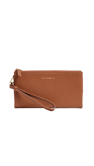 WANT LES ESSENTIELS Slim Aquino Bifold Zip Wallet