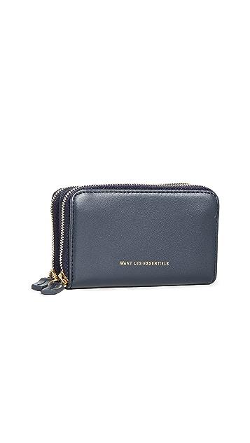 WANT Les Essentiels Mini Petra Double Zip Card Holder