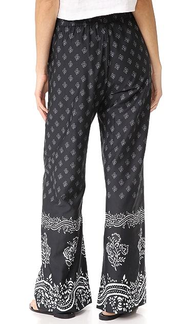 Warm Danna Floral Bandana Pants