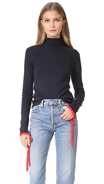 Warm Shadow Turtleneck Top