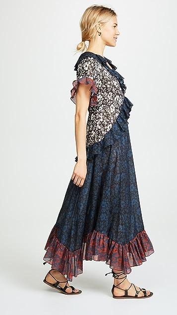 Warm Tiered Midi Dress
