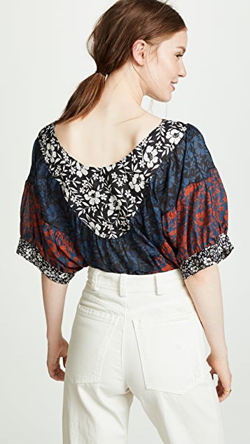 Warm V Neck Blouse
