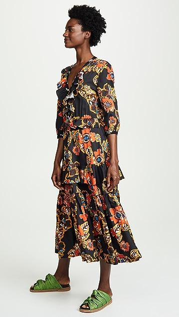 Warm Long Sleeve Tiered Dress