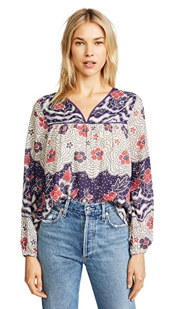 Warm Printed Blouse