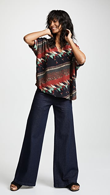 Warm Patch Perfect Blouse