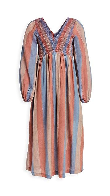 暖色 Long Joanna 连衣裙