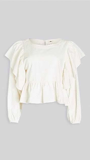 暖色 Pixie 女式衬衫