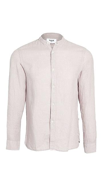 Wax London Watchet Band Collar Shirt