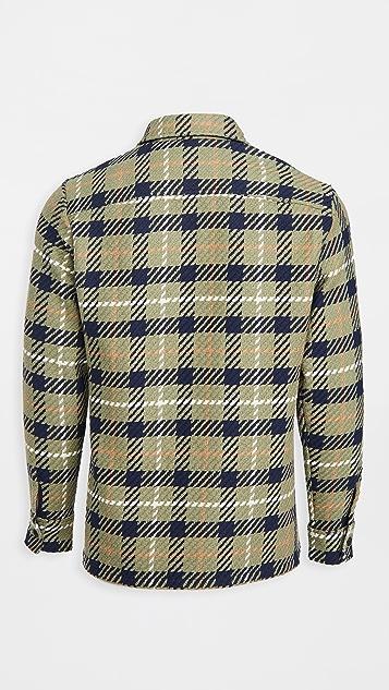 Wax London Whiting Heavy Check Overshirt