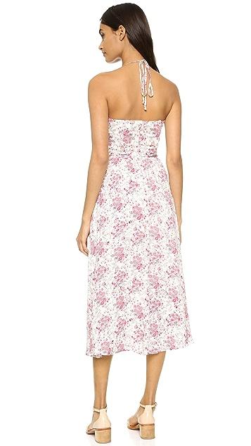 WAYF Cutout Tie Front Dress