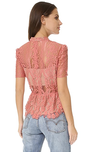 WAYF Stolen Kiss Peplum Top