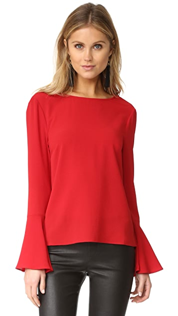 WAYF Winning Hand Bell Sleeve Top