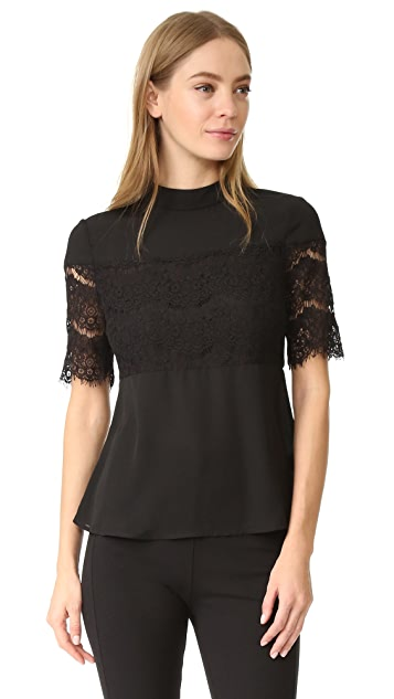WAYF Pike Lace Inset Top